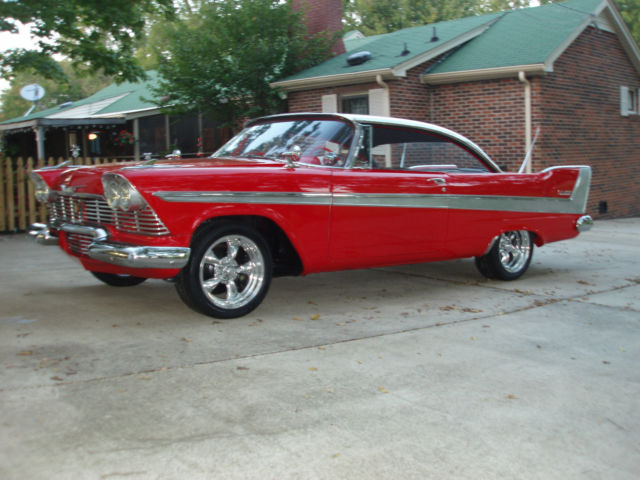 Plymouth Belvedere 2 Door Hardtop 1958 Red With White Top