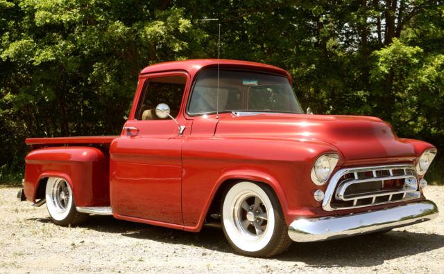 chevrolet other pickups standard cab pickup 1957 red for sale 3a570100553 1957 chevrolet 3100. Black Bedroom Furniture Sets. Home Design Ideas