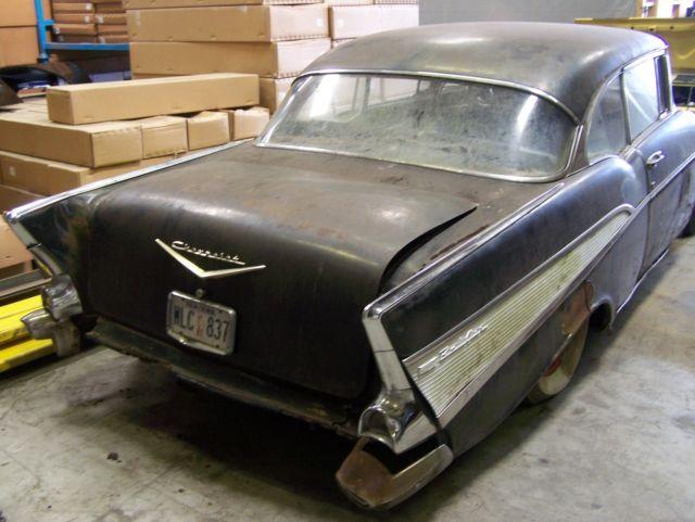Chevrolet Bel Air 150 210 2 Door Hardtop 1957 Onyx Black