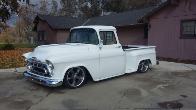 Chevrolet other pickups standard cab pickup 1957 white for for 1957 chevy big window truck for sale
