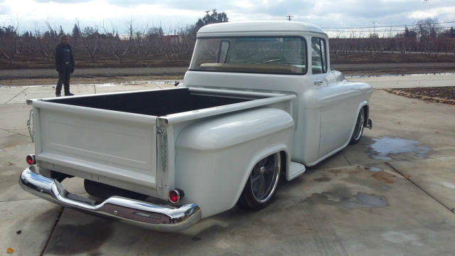 chevrolet other pickups standard cab pickup 1957 white for