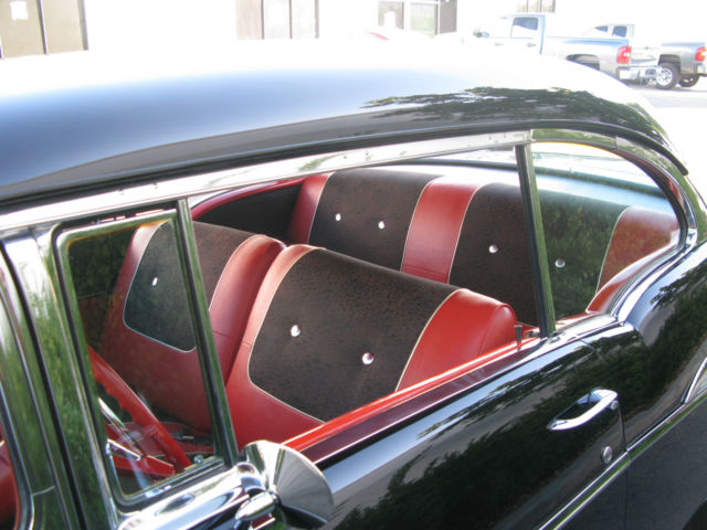 Chevy Bel Air Door Hardtop Black With Red Interior Socal Original V Auto on Chevrolet Power Steering Pump