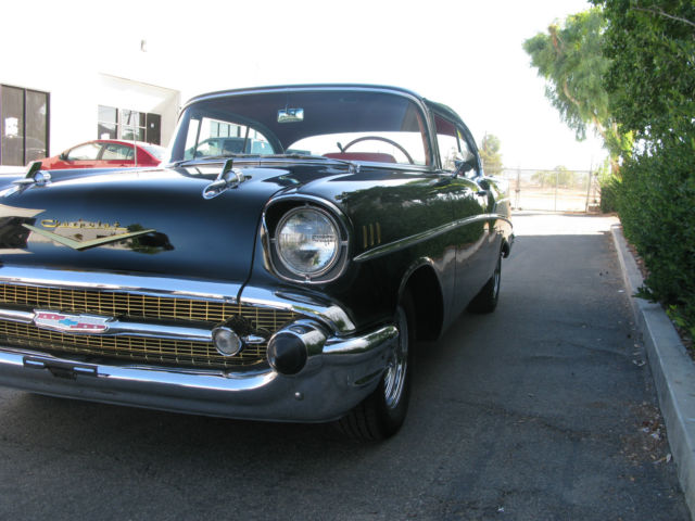 Chevrolet Bel Air 150 210 2 Door Hard Top 1957 Black For