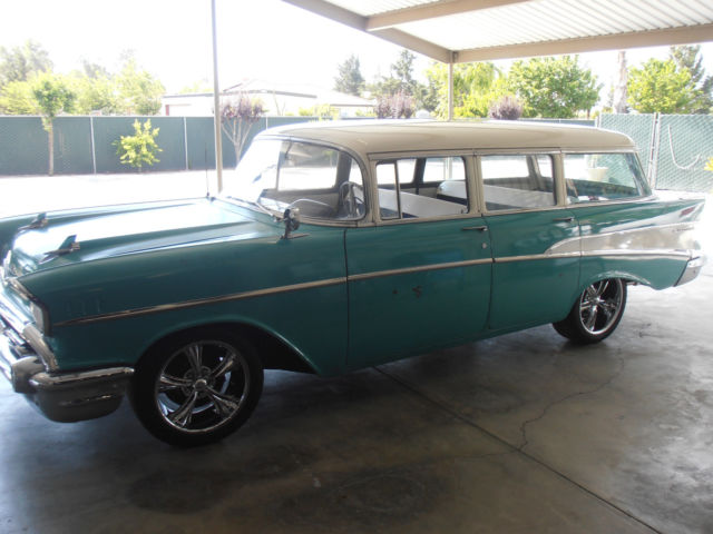 chevrolet other 1957 green and white for sale vb57l169645 1957 chevy station wagon. Black Bedroom Furniture Sets. Home Design Ideas