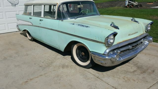 Chevrolet Bel Air 150 210 Wagon 19570000 Green For Sale