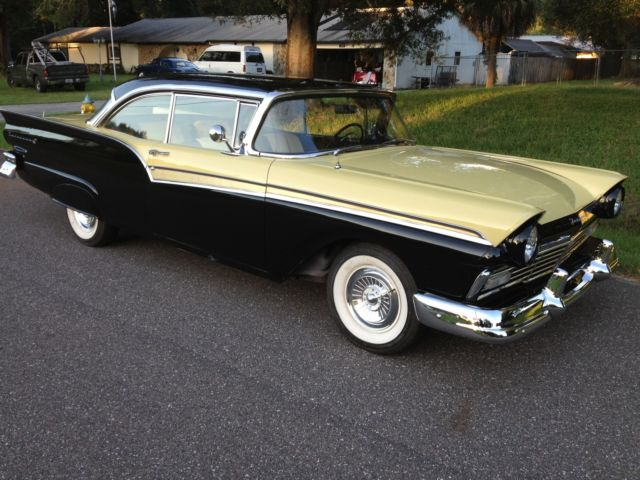 Ford Fairlane Coupe 1957 Black And Yellow For Sale