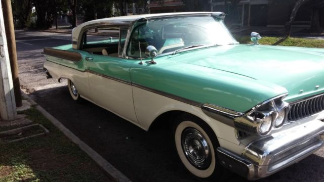 mercury other coupe 1957 mint green with ivory white for sale  1957 mercury turnpike cruiser