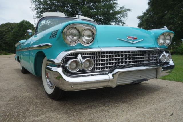 chevrolet impala convertible 1958 tropic turquoise for sale f58t268916 1958 chevrolet impala. Black Bedroom Furniture Sets. Home Design Ideas
