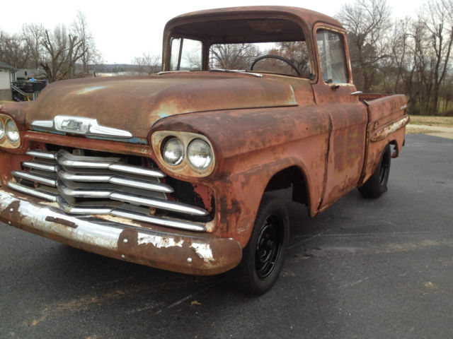 chevrolet other pickups customs cab 1959 red for sale 58s129634 1958 chevy apache custom cab. Black Bedroom Furniture Sets. Home Design Ideas