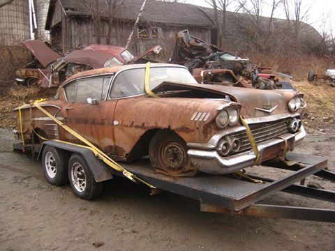 chevrolet impala coupe 1958 coral clay for sale f58t221205 1958 impala project car. Black Bedroom Furniture Sets. Home Design Ideas