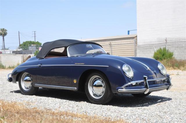 Porsche 356 Convertible 1958 Blue For Sale 84568 1958