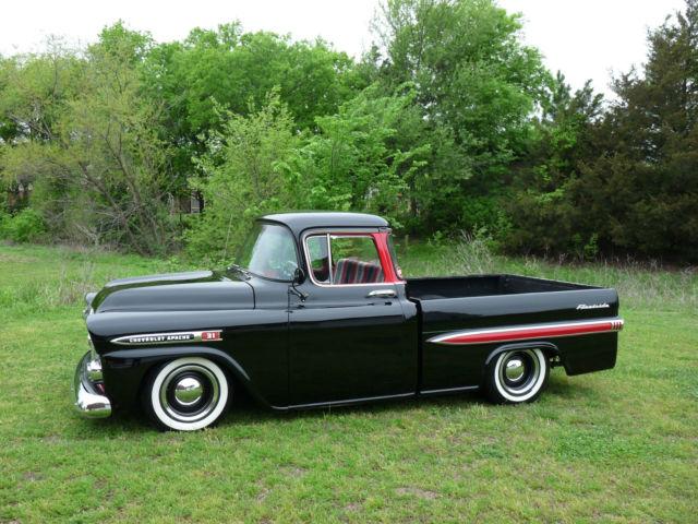 chevrolet other pickups 1959 black for sale 1959 chevrolet apache fleetside deluxe. Black Bedroom Furniture Sets. Home Design Ideas