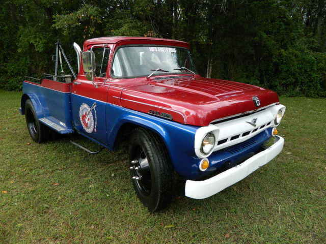 Ford Other Pickups Truck  Red Blue For Sale  Ford F  Hauler Tow Truck Modernized  V Ac Power Steering Auto