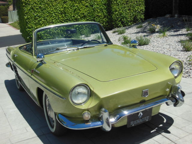 renault other 1959 green for sale 0022499 1959 renault caravelle roadster with two tops rare. Black Bedroom Furniture Sets. Home Design Ideas