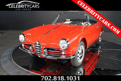 Alfa Romeo Spider Convertible Red For Sale F - Alfa romeo giulietta 1960 for sale