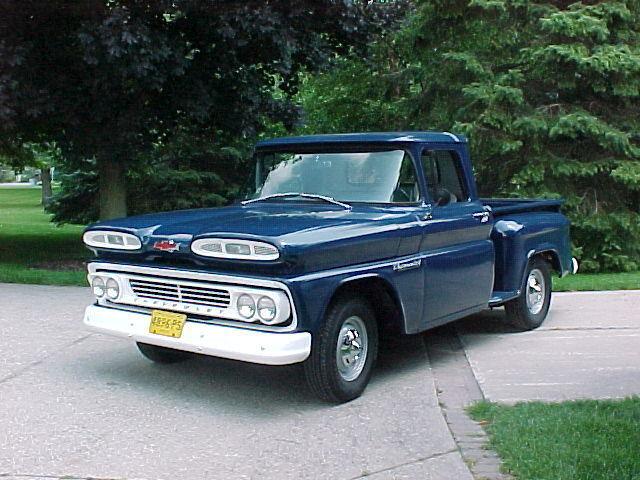 chevrolet c 10 standard cab pickup 1960 marlin blue for sale 1960 chevrolet apache c10 stepside. Black Bedroom Furniture Sets. Home Design Ideas