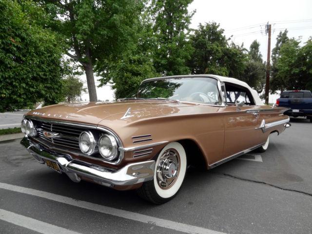 chevrolet impala convertible 1960 suntan copper for sale 01867l131943 1960 chevy impala. Black Bedroom Furniture Sets. Home Design Ideas