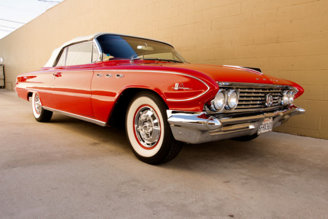 buick lesabre convertible 1961 red for sale 4h1007081 1961 buick lesabre convertible nailhead. Black Bedroom Furniture Sets. Home Design Ideas