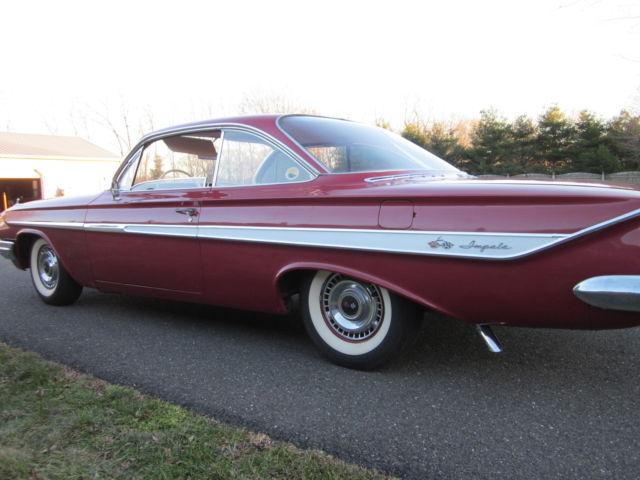 Chevrolet Impala 2 Dr Bubbletop 1961 Honduras Maroon For Sale 1961