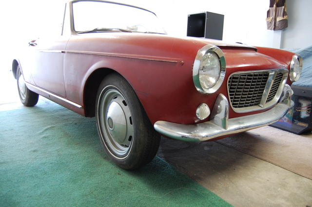 Fiat Other Convertible 1961 Burgundy For Sale 118s005714 1961 Fiat