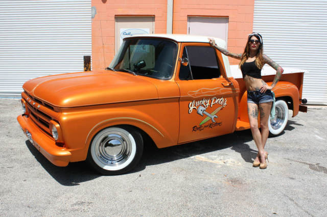 Ford F 100 Pick Up 1961 Orange For Sale 1961 Ford F100