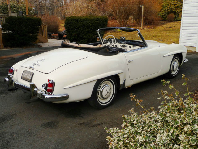 Mercedes benz 190 series roadster 1961 white for sale for Mercedes benz 190 for sale