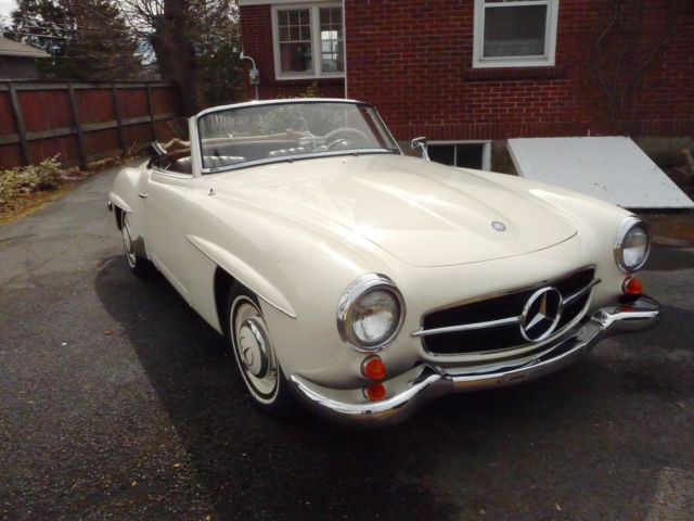 Mercedes benz 190 series roadster 1961 white for sale for sale 1961 mercedes benz 190 series sl roadster sciox Gallery