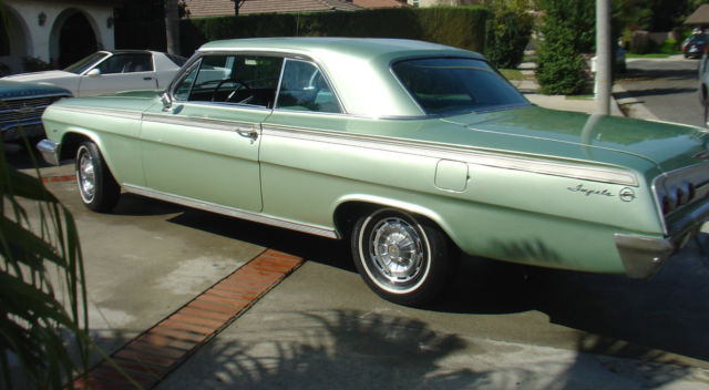 chevrolet impala coupe  laurel green  sale  chevy impala  door coupe