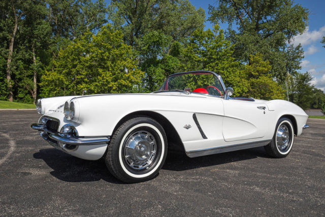 Chevrolet Corvette Convertible 1962 White For Sale  1962 Corvette