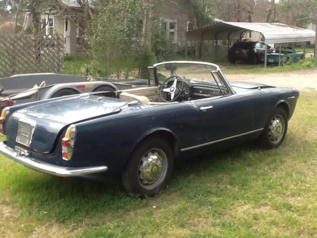 alfa romeo spider convertible 1963 blue for sale 1963. Black Bedroom Furniture Sets. Home Design Ideas