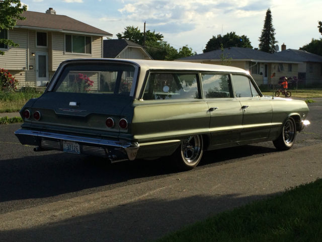 Chevrolet Other Wagon 1963 Green  Pearl White For Sale  31635j198902 1963 Chevrolet Bel Air