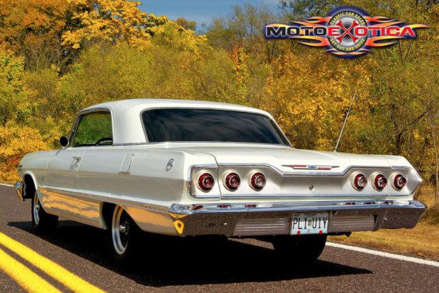 chevrolet impala coupe 1963 ermine white for sale. Black Bedroom Furniture Sets. Home Design Ideas