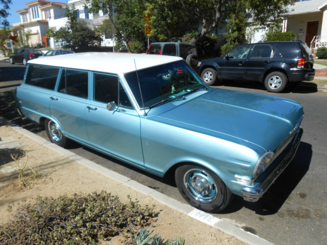 chevrolet nova wagon 1963 aqua azure and ermine white for sale 1963 chevy ii chevrolet nova wagon. Black Bedroom Furniture Sets. Home Design Ideas