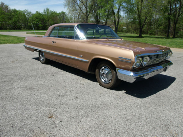chevrolet impala coupe 1963 saddle tan for sale 318345s1253392 1963 chevy impala ss with. Black Bedroom Furniture Sets. Home Design Ideas