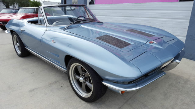 Chevrolet Corvette Convertible 1963 Silver Blue For Sale
