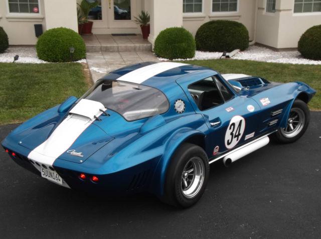 chevrolet corvette coupe 1963 blue for sale ddgs034 1963 corvette grand sport built by d d 34. Black Bedroom Furniture Sets. Home Design Ideas