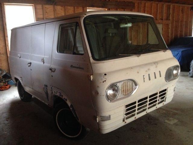 Ford E Series Van Standard Passenger Van 1963 White For