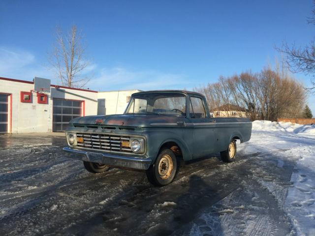 Ford F-100 Standard Cab Pickup 1963 Blue For Sale. 1963 Ford F100 Rare Unibody Big Back Window