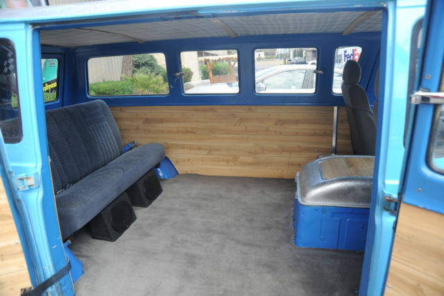 Ford E Series Van Window Van 1963 Blue For Sale