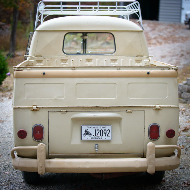 Where Can I Buy A Volkswagen Bus: Volkswagen Bus/Vanagon Extended Cab Pickup 1963 Tan For