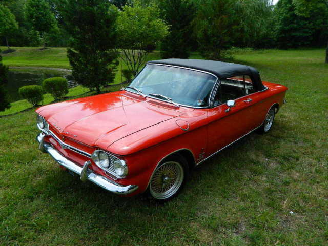 Chevrolet Corvair Rwd 1964 Red For Monza Spyder Turbocharged Convertible 150hp