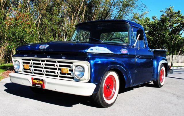 ford f 100 standard cab pickup 1964 blue for sale f10jl564330 1964 ford f100 custom cab short. Black Bedroom Furniture Sets. Home Design Ideas
