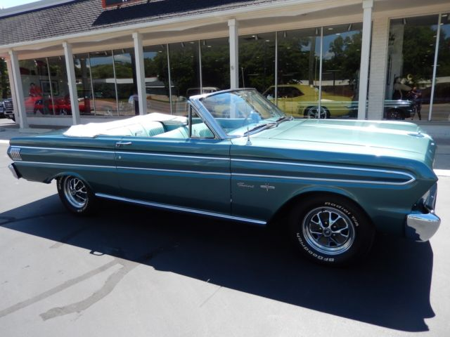 Ford Falcon Convertible 1964 Turquoise For 4h15f Factory 260 Auto Sprint Tach Doented Restoration