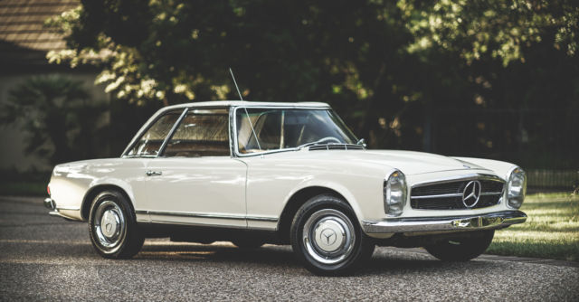 Mercedes benz 200 series convertible 1964 white for sale for Mercedes benz 230 for sale