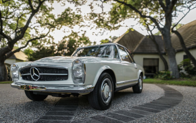 Mercedes benz 200 series convertible 1964 white for sale for 1964 mercedes benz 230sl