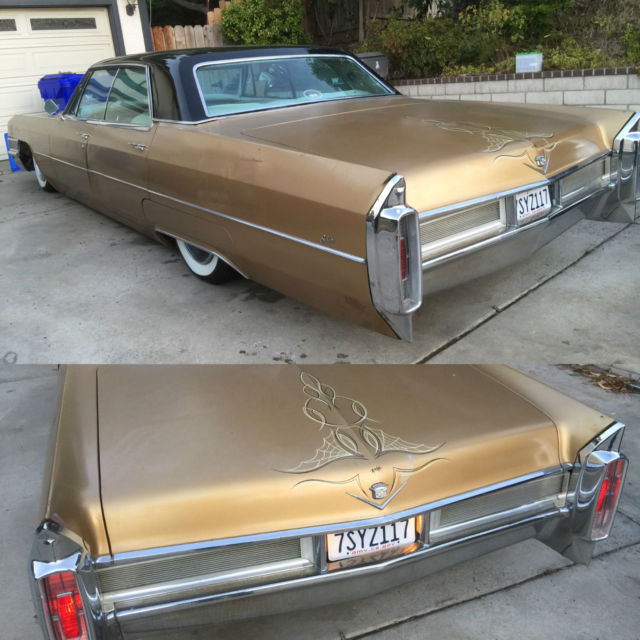 Cadillac DeVille Sedan 1965 Gold For Sale. 1965 Bagged