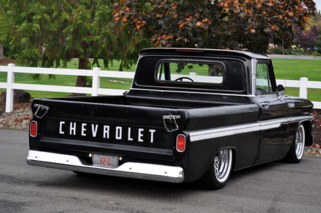 chevrolet c 10 standard cab pickup 1965 black for sale c1545z133651 1965 chevrolet c10 pickup. Black Bedroom Furniture Sets. Home Design Ideas