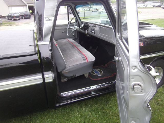 chevrolet c 10 show truck 1965 black for sale c1445b135634 1965 chevy c10 truck short bed show. Black Bedroom Furniture Sets. Home Design Ideas