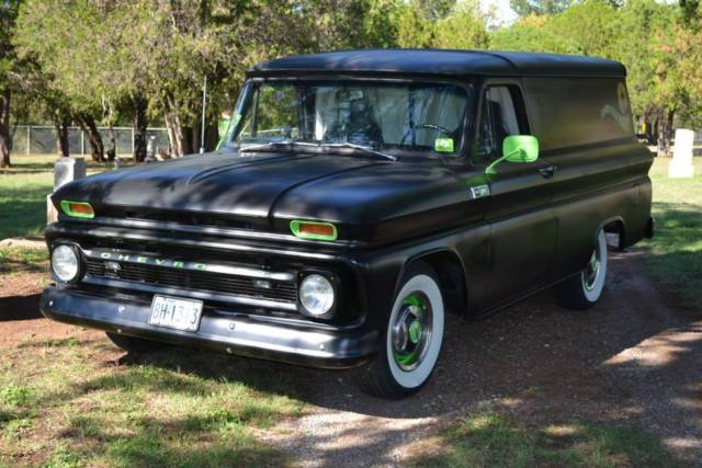 chevrolet c 10 panel truck 1965 black for sale c1455s138890 1965 chevy custom panel truck. Black Bedroom Furniture Sets. Home Design Ideas