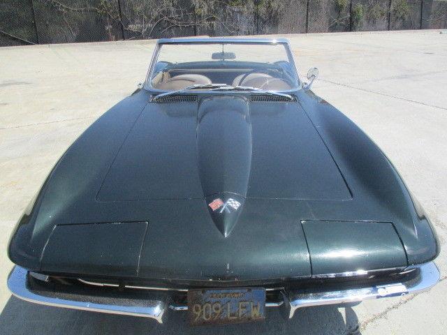 Chevrolet Corvette Convertible 1965 Green For Sale  1965 Corvette
